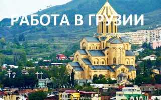 Работа и доступные вакансии в Грузии в 2020 году