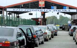 Очереди на границе с Польшей в 2020 году