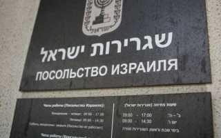 Прохождение консульской проверки в израильском посольстве
