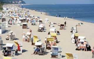 Пляжи на озерах и морском побережье в Германии