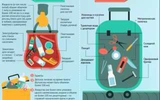 Еда и продукты в ручной клади