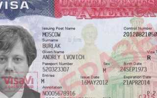 Где находится номер визы США и зачем его нужно знать