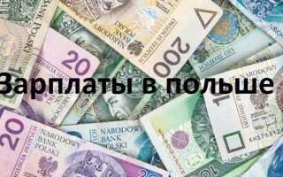 Заработная плата в Польше: средние зарплаты по профессиям